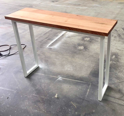 Exceptionnel Recycled Tasmanian Oak Hall Table With White Metal Legs Measurements: 1.2  Long X 400 Wide X 85cm High $540+GST Can Custom Make To Your Preferred ...