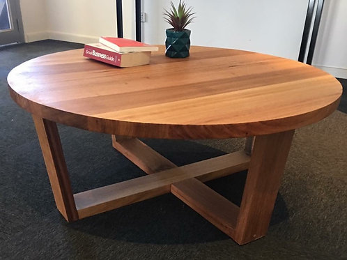 183. Tasmanian oak round coffee table