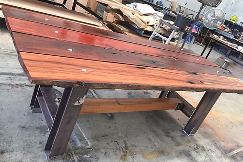 165. Recycled timber rustic outdoor dining table