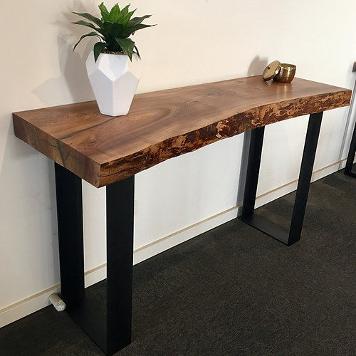 Recycled Timber Industrial Furniture 112 Elm slab hall table