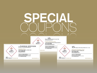 Special coupons for you!
