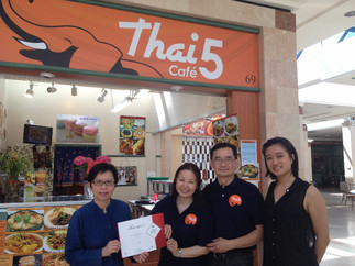 Certificates award to Thai 5 Café