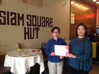 Certificates award to Siam Square Hut