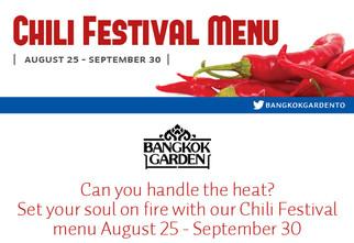Bangkok Garden: Chili Festival Menu