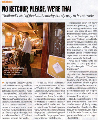Golden Thai in Canadian Business