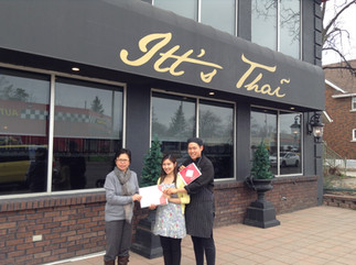 Certificates award to another Thai Select restaurants