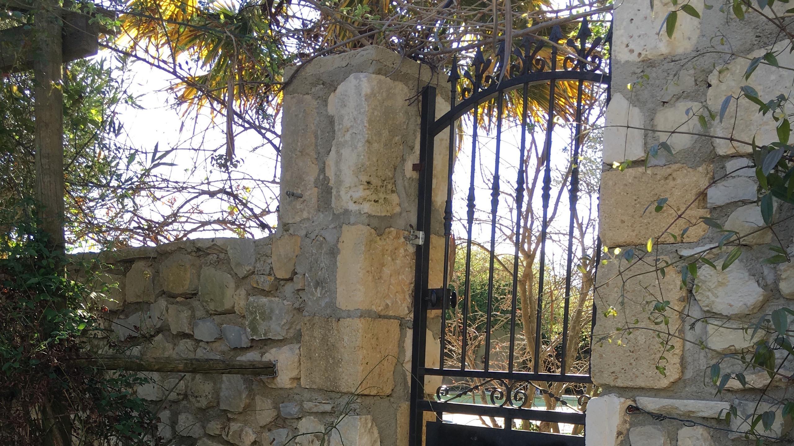 gate no plants