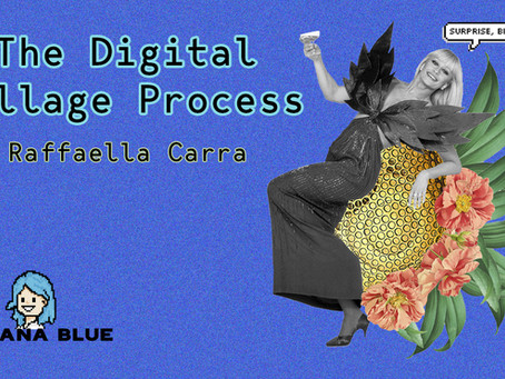 The Digital Collage Process - Raffaella Carrà