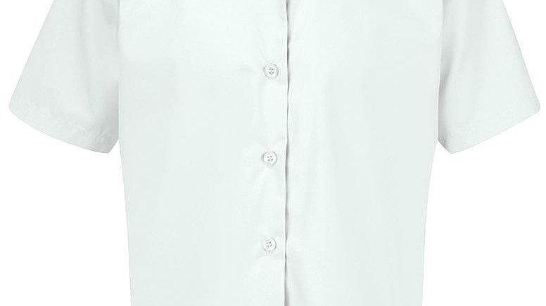 Girls 2pk White Blouse Short Sleeve Non-iron