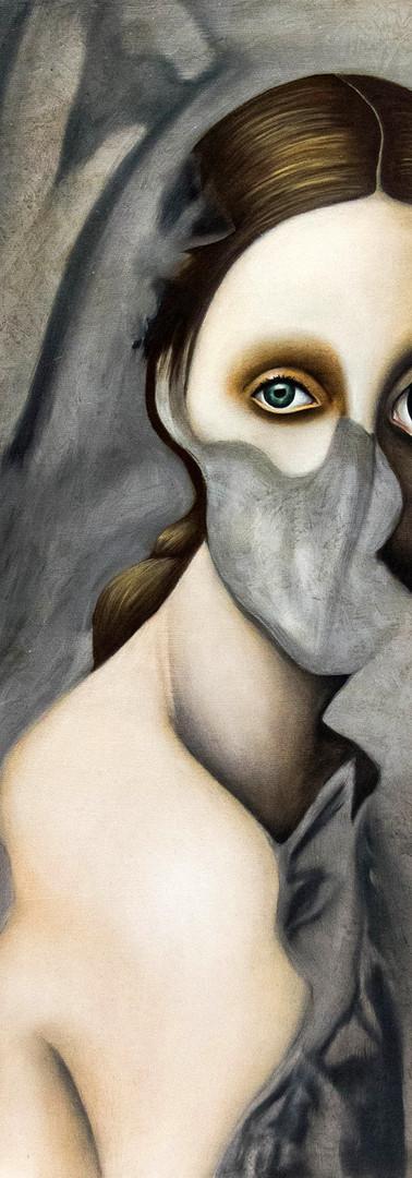 SENZA FIATO Olio su tela 50 cm x 60 cm, 2019