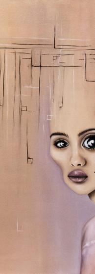 GRILLI PER LA TESTA Olio su tela 55 cm x 65 cm, 2019