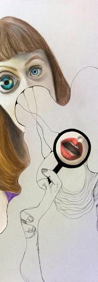 TROPPO PESO ALLE PAROLE Pastello e china su cartone 70 cm x 100 cm, 2020