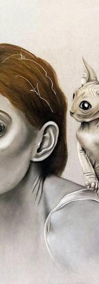SUGGERIMENTI Pastello e china su cartone 70 cm x 100 cm, 2020