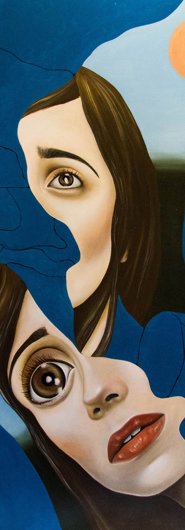 BROKEN DOLL IN BLUE Olio su tela 110 cm x 150 cm, 2020