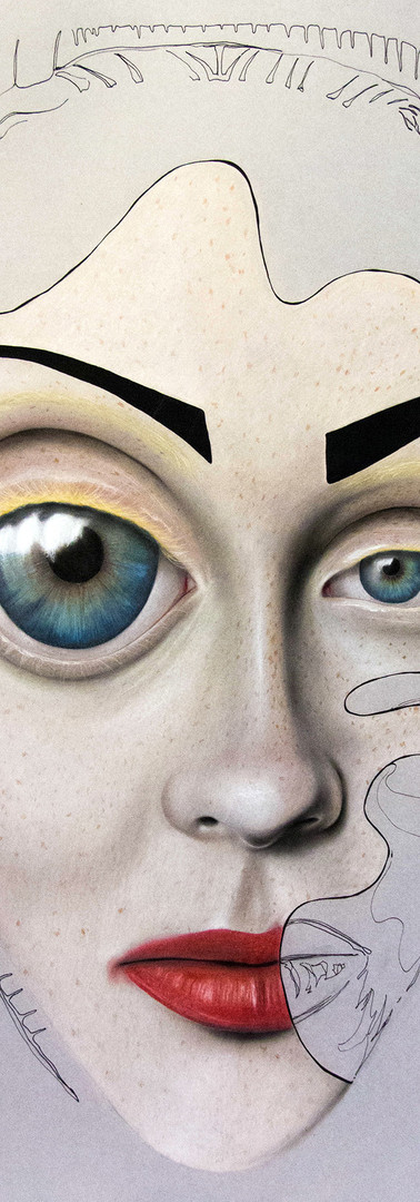 POSTICCIO Pastello e china su cartone 70 cm x 100 cm, 2020