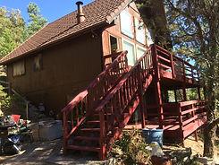 Ruidoso House Staining