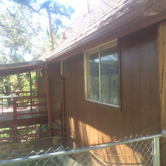 Ruidoso House Staining