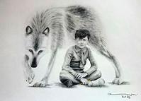 portrait with wolf / retrato con lobo