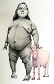 retrato con vaca