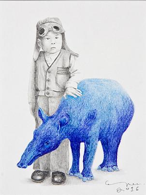 portrait with tapir / retrato con tapir
