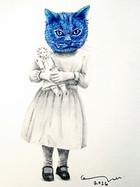 portrait with she-cat 1 / retrato con gata 1