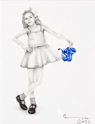 portrait with angler fish / retrato con rape