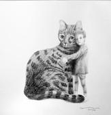 portrait with cat / retrato con gato