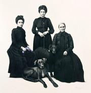 retrato con perros