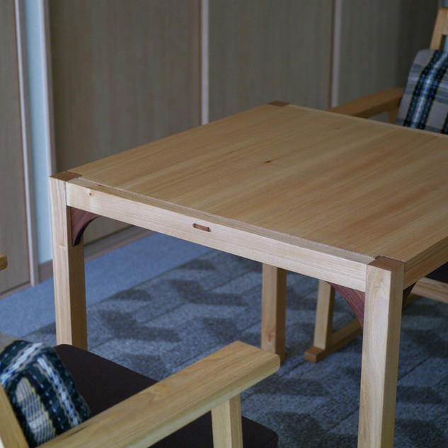 楡材オーダーテーブルセット