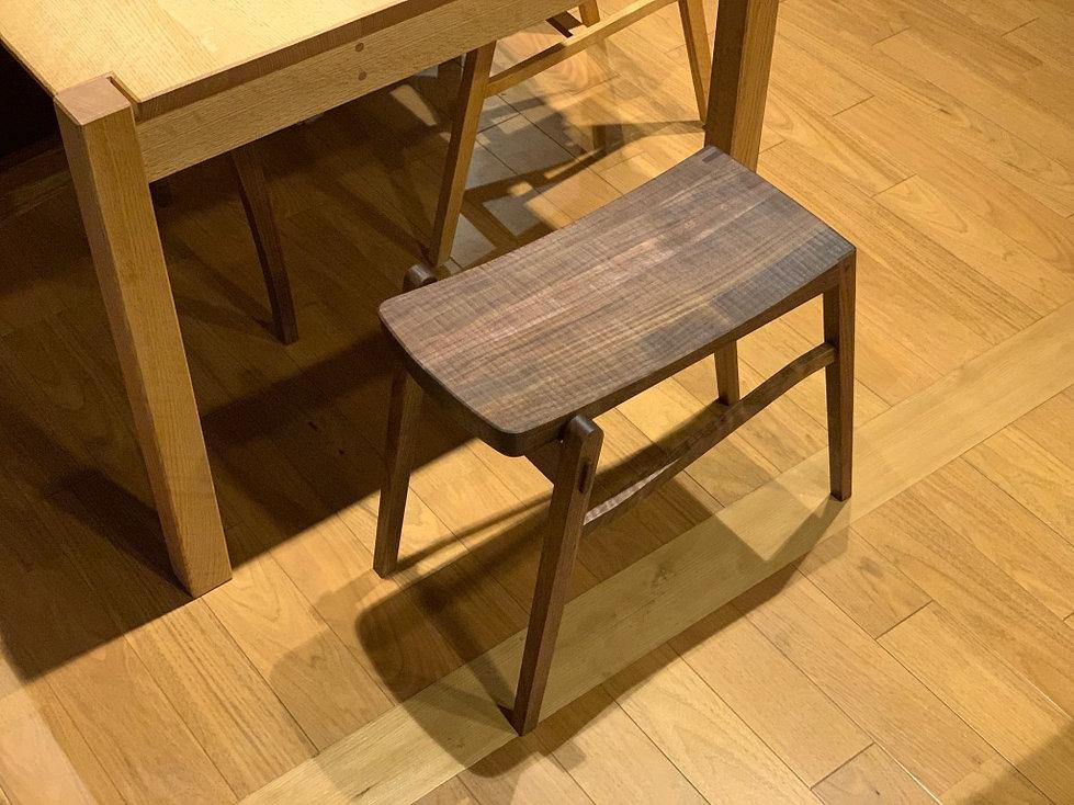 家具 椅子 スツール イス ダイニングチェア ウォールナット