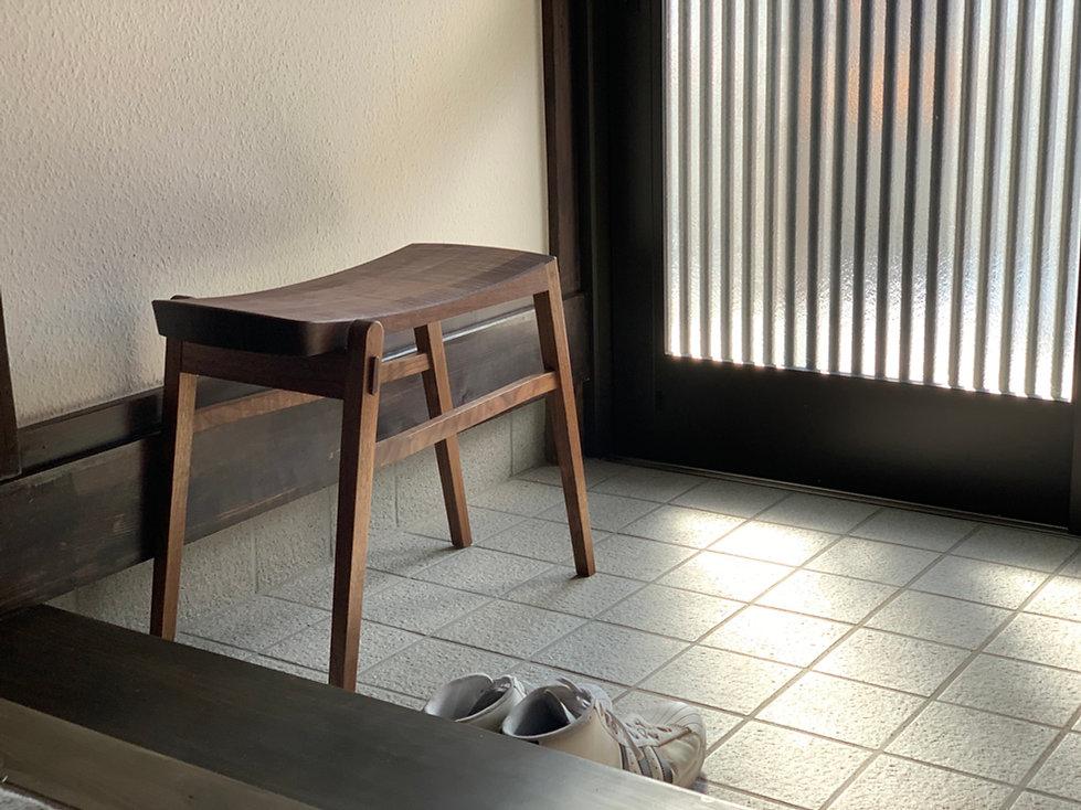 家具 椅子 スツール イス 玄関 ウォールナット