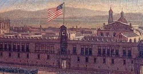 bandera de USA en palacio nacional cienc