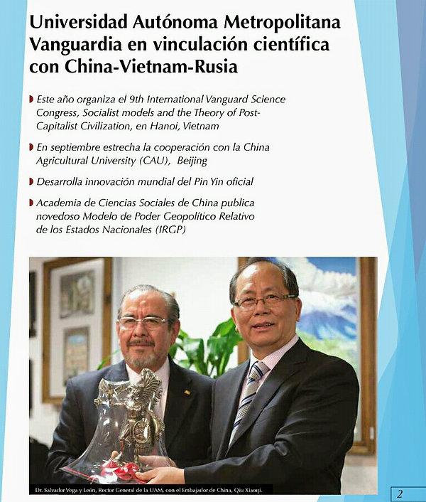 CTS se vincula con China-Vietnam-Rusia