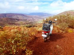 Postie Bike tour top of Mt Nameless
