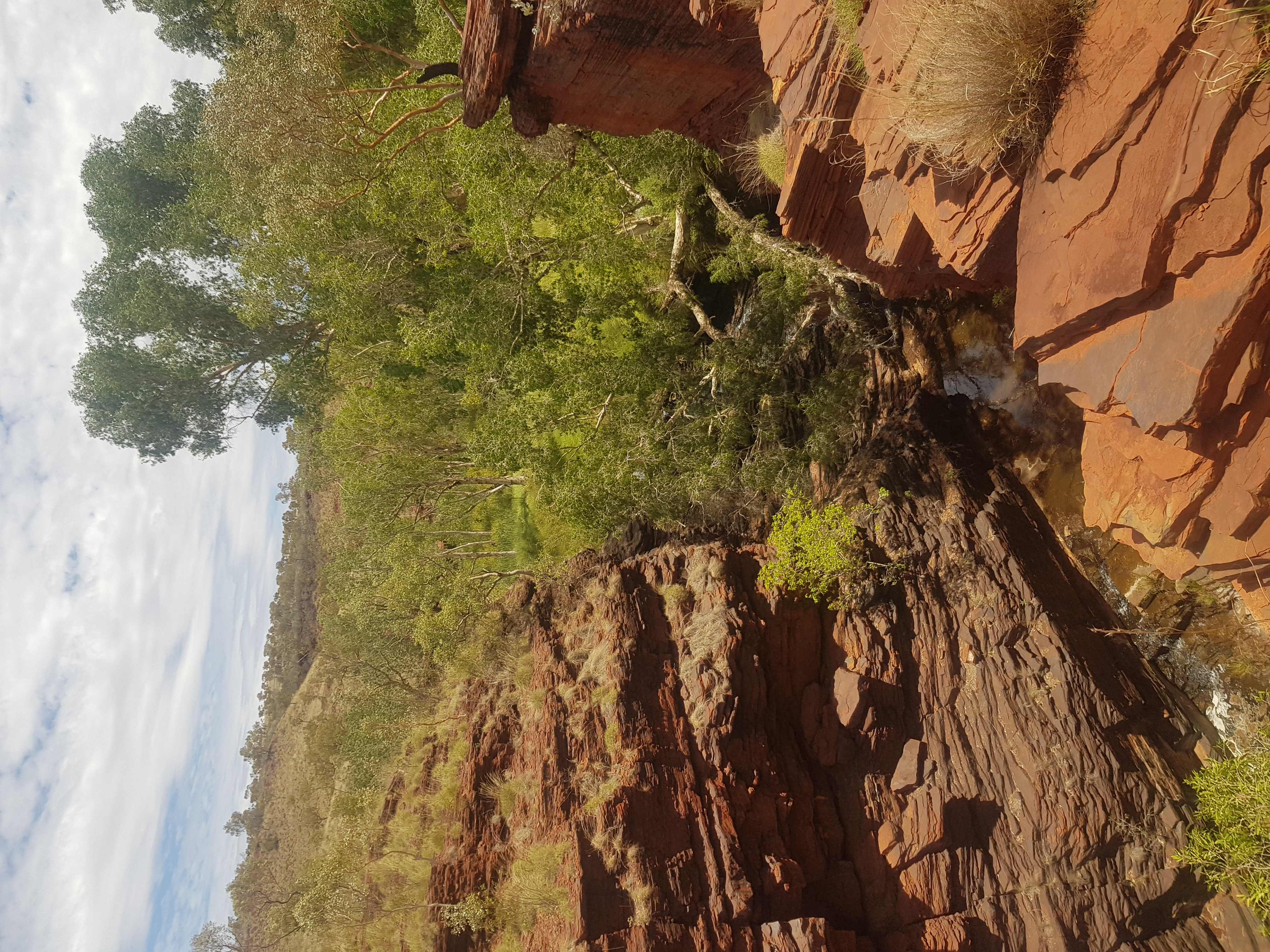 View a top gorge in Karijini