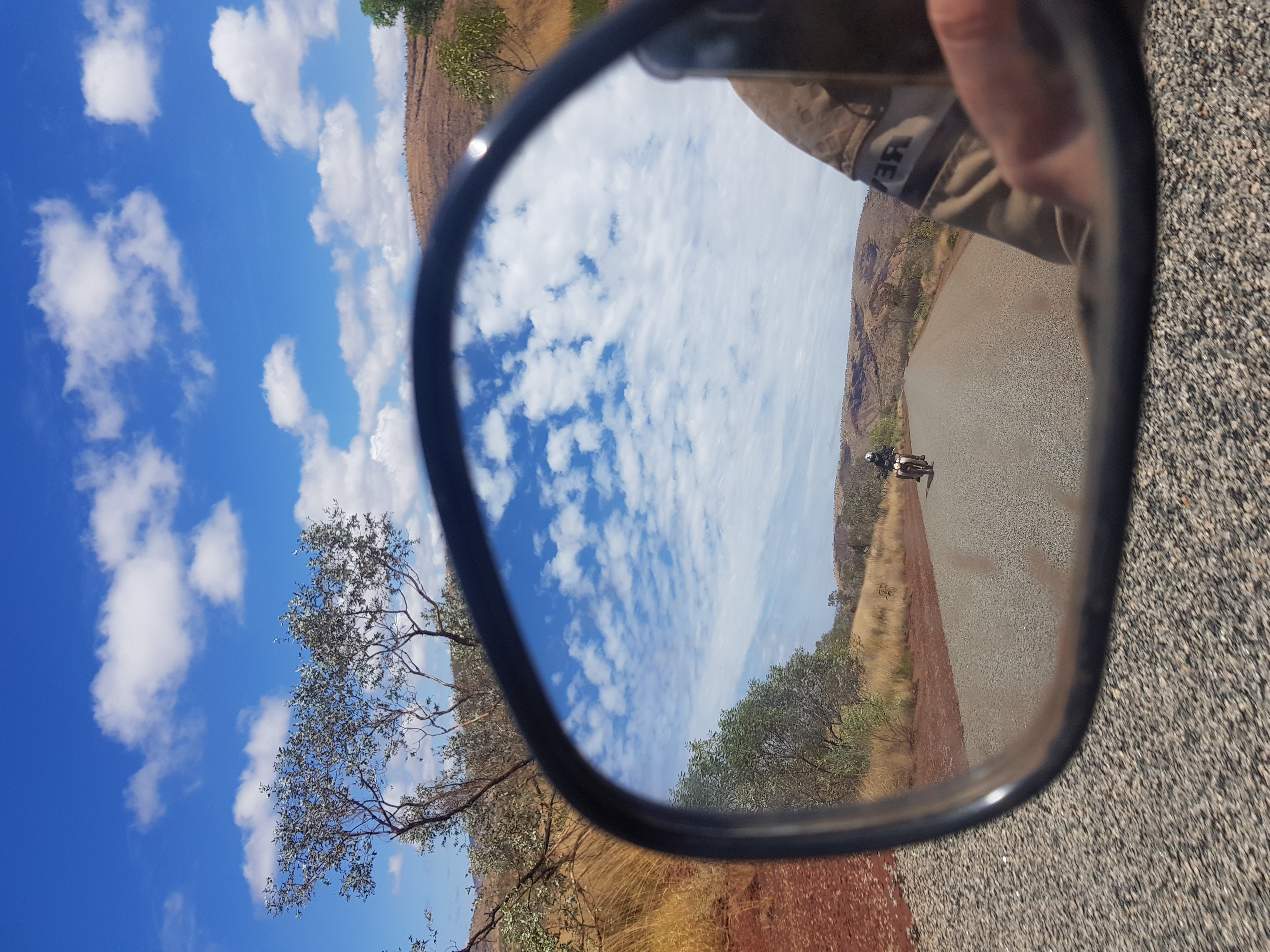 Postie Bike Adventures in rear view