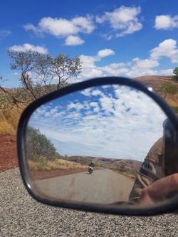 Postie Bike Adventures in rear view