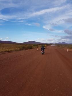 Long dusty road postie challenge