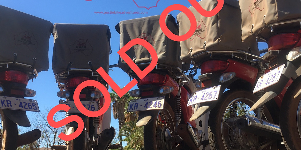 Red Dog Postie Bike Challenge $3950 August 13 - 21st 2021 - $200 deposit required to lock in your spot