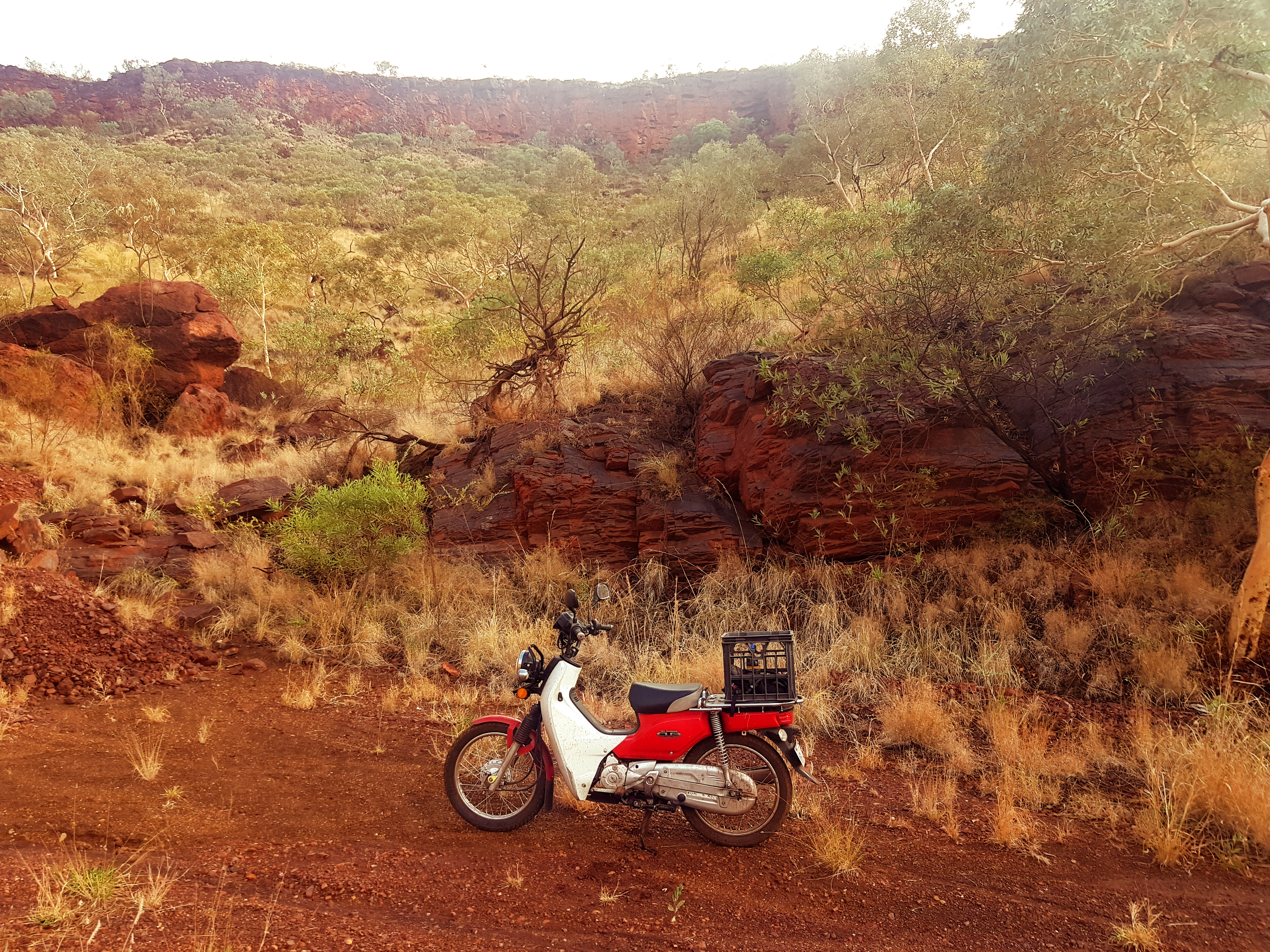 Postie Bike in Tom Price Mt Nameless