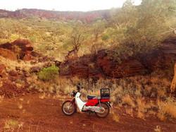 Postie Bike in Tom Price Mt Nameless