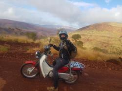 Steven Morgan on postie bike