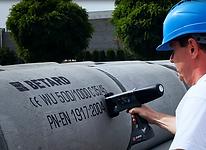 Marking concrete pipes using the EBS 260 handheld inkjet printer