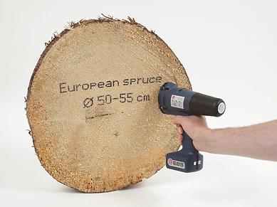 EBS 250 handheld inkjet printer for marking timber for traceability