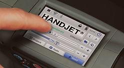 Control panel of the EBS 260 handheld inkjet printer