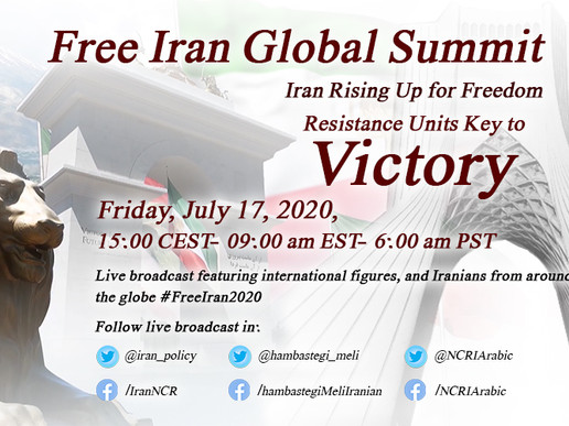 Upcoming Event: July 17th 2020 - Free Iran Global Summit With International Figures