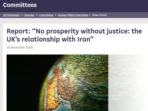FAC Publishes Report On Iran Policy Including Recomendations by Anglo-Iranian Political Prisoners