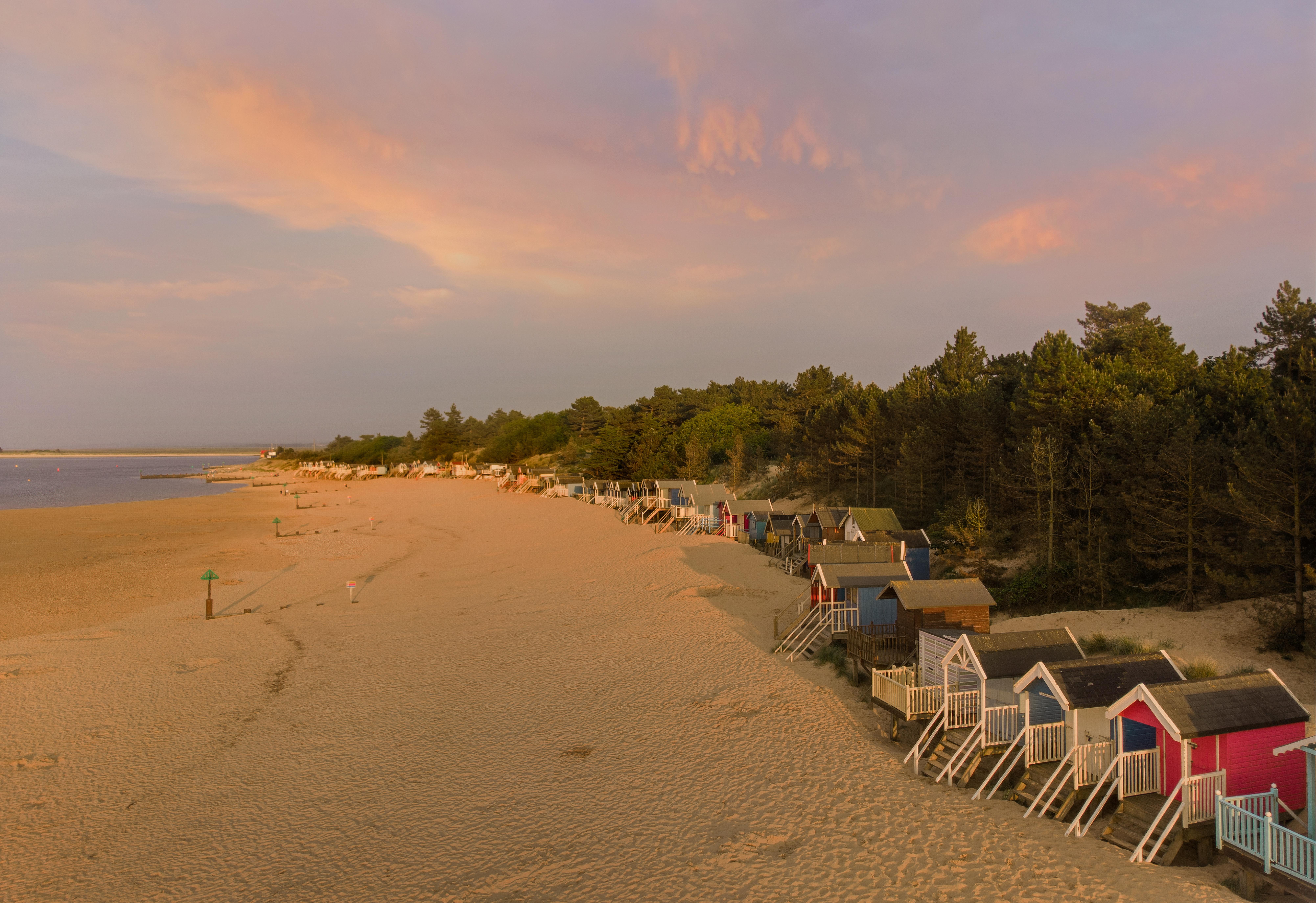 Beach huts looking East
