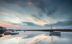 big skies over the quay