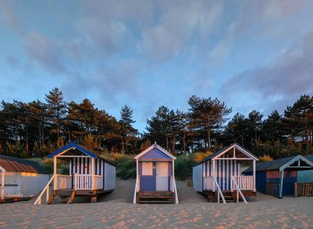Three Blue Huts